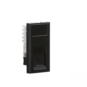 UTP CAT6 RJ45 Outlet Module Black, Knightsbridge NETCAT6BK