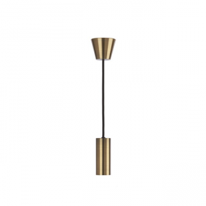 Ceiling Light Brushed Brass ES Pendant, 0043372 Sylvania