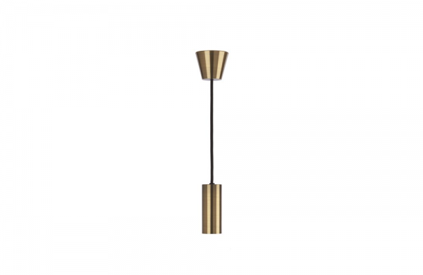 Ceiling Light Brushed Brass ES Pendant, 0043372 Sylvania